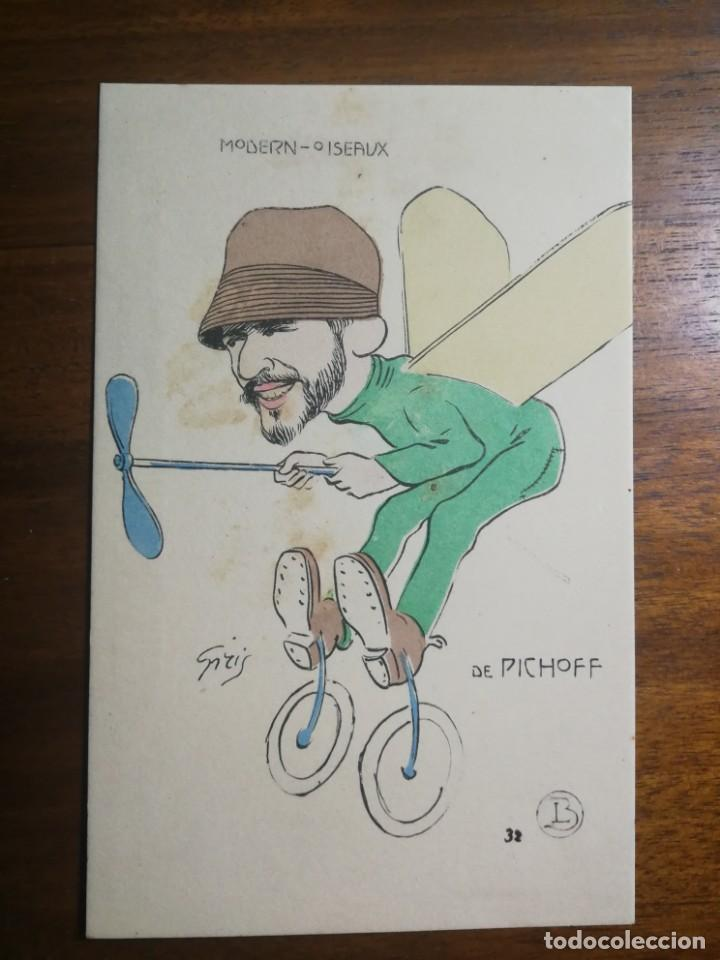 AVIADOR DE PICHOFF - POSTAL ILUSTRADA SIN CIRCULAR - MODERN-OISEAUX - AGUA DE VILAJUIGA (Coleccionismo Deportivo - Postales de otros Deportes )