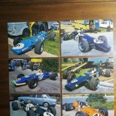 Coleccionismo deportivo: 11 POSTALES SIN CIRCULAR - AUTOMOVILISMO FÓRMULA 1 Y 2 - FERRARI COOPER MASERATI LOLA MONTJUICH 1968. Lote 192765633