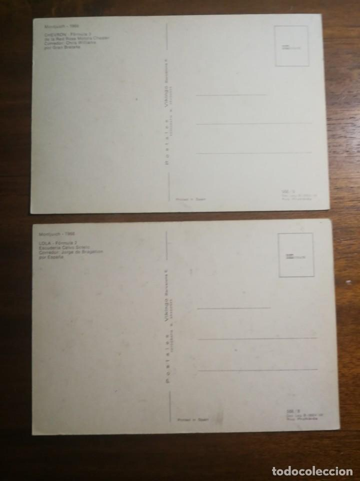 Coleccionismo deportivo: 11 postales sin circular - Automovilismo Fórmula 1 y 2 - Ferrari Cooper Maserati Lola Montjuich 1968 - Foto 3 - 192765633