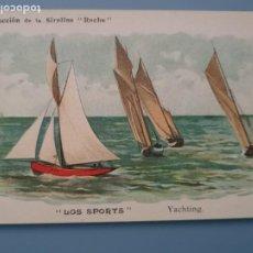 Coleccionismo deportivo: POSTAL PUBLICITARIA COLECCION DE LA SIROLINE ROCHE LOS SPORTS DEPORTES VELA YACHTING PERFECTA CONSER. Lote 193684942