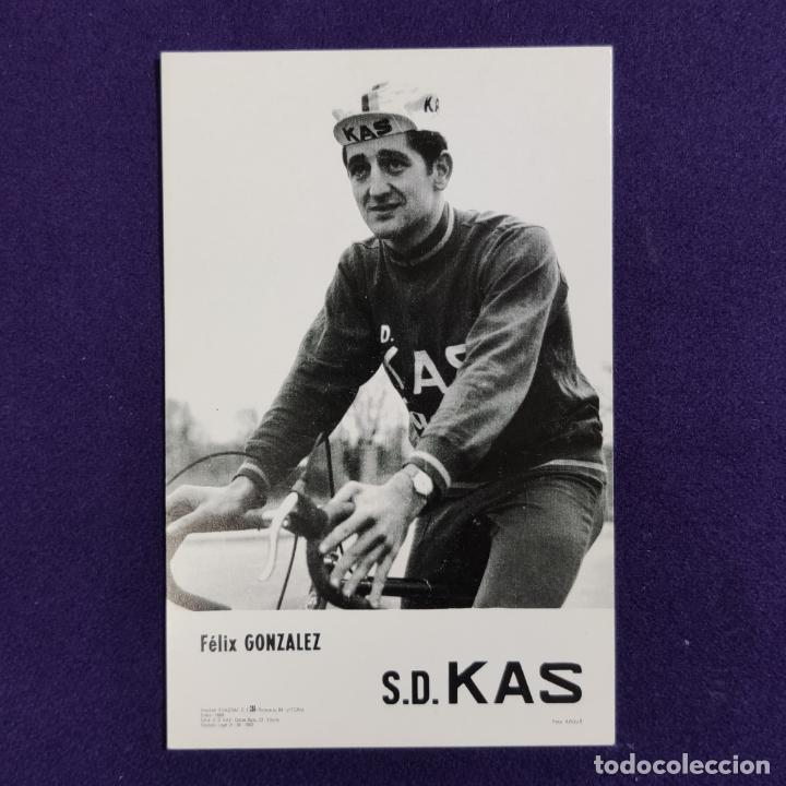 POSTAL DEL EQUIPO CICLISTA S.D. KAS. FELIX GONZALEZ. AÑO 1969. FOTO ARQUE. CICLISMO. VITORIA. ALAVA. (Coleccionismo Deportivo - Postales de otros Deportes )