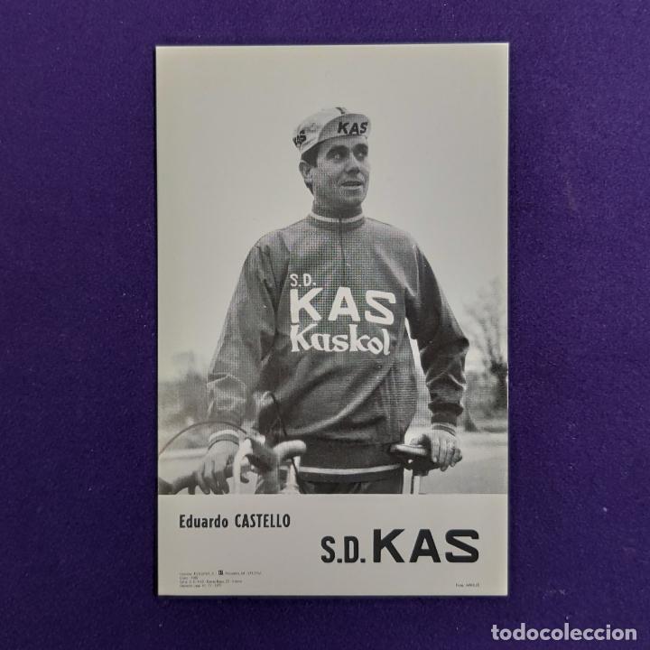 POSTAL DEL EQUIPO CICLISTA S.D. KAS. EDUARDO CASTELLO. AÑO 1969. F ARQUE. CICLISMO. VITORIA. ALAVA. (Coleccionismo Deportivo - Postales de otros Deportes )