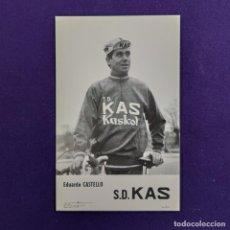 Coleccionismo deportivo: POSTAL DEL EQUIPO CICLISTA S.D. KAS. EDUARDO CASTELLO. AÑO 1969. F ARQUE. CICLISMO. VITORIA. ALAVA.. Lote 196083267