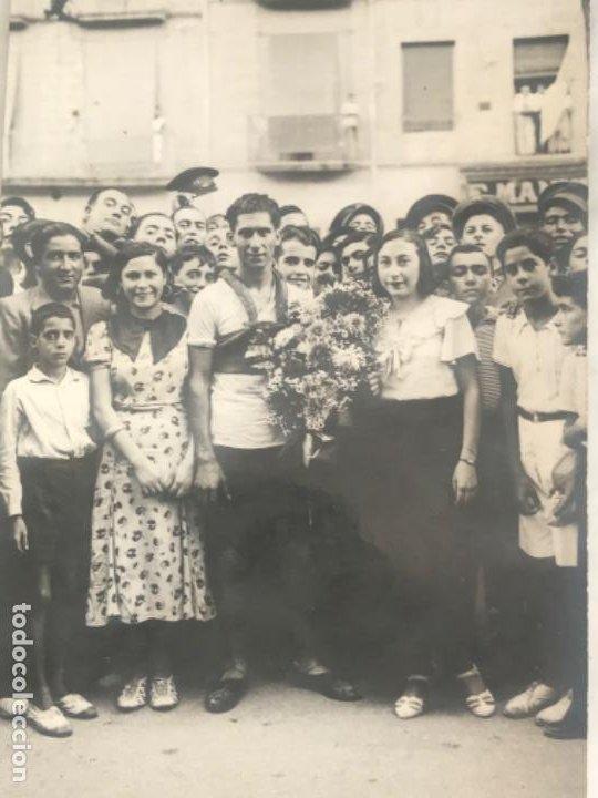 Coleccionismo deportivo: POSTAL FOTOGRÁFICA UNIÓ CICLISTA SANS 1920'S. - Foto 3 - 196474552