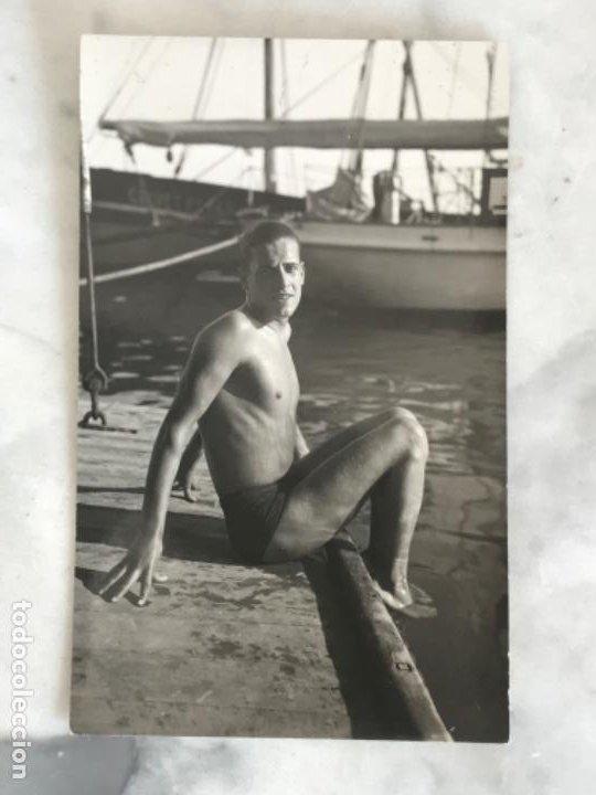 POSTAL FOTOGRÁFICA DEL GANADOR DE LA PRUEVA DE FIN DE AÑO 1933. CLUB NATACIÓN BARCELONA. (Coleccionismo Deportivo - Postales de otros Deportes )