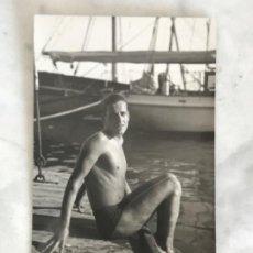 Coleccionismo deportivo: POSTAL FOTOGRÁFICA DEL GANADOR DE LA PRUEVA DE FIN DE AÑO 1933. CLUB NATACIÓN BARCELONA. . Lote 196482485