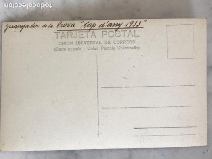 Coleccionismo deportivo: POSTAL FOTOGRÁFICA DEL GANADOR DE LA PRUEVA DE FIN DE AÑO 1933. CLUB NATACIÓN BARCELONA. - Foto 2 - 196482485