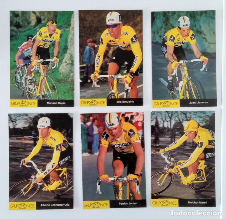Coleccionismo deportivo: LOTE 23 POSTALES DE CICLISMO. GRUPO DEPORTIVO ONCE. 1995 - Foto 3 - 197182005
