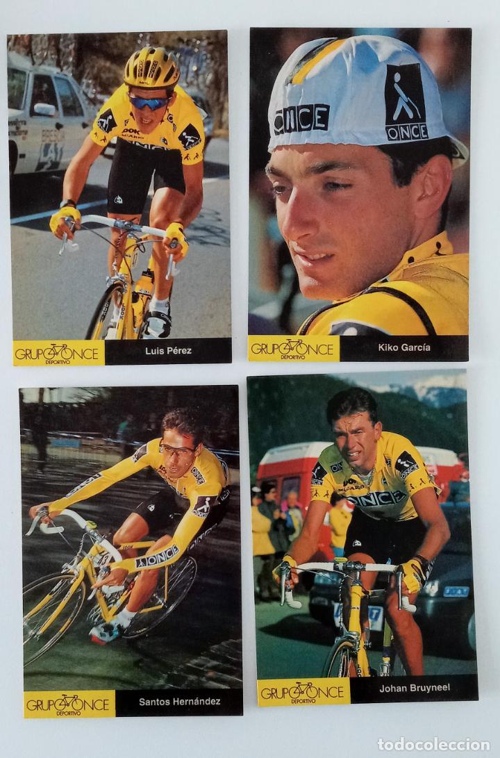 Coleccionismo deportivo: LOTE 23 POSTALES DE CICLISMO. GRUPO DEPORTIVO ONCE. 1995 - Foto 4 - 197182005