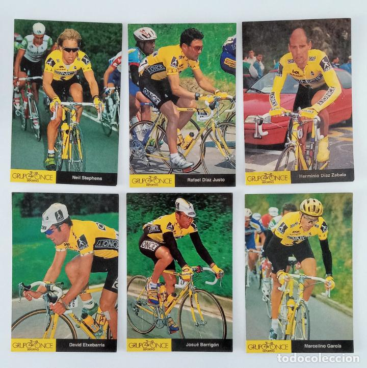 LOTE 23 POSTALES DE CICLISMO. GRUPO DEPORTIVO ONCE. 1995 (Coleccionismo Deportivo - Postales de otros Deportes )