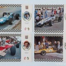 Coleccionismo deportivo: LOTE 9 POSTALES DE COCHES CARRERA GRAN PRIX. Lote 197182216