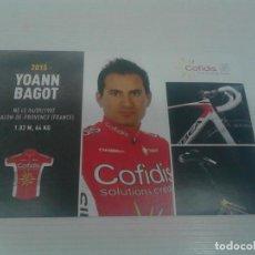 Coleccionismo deportivo: POSTAL YOANN BAGOT - COFIDIS.. Lote 198342493