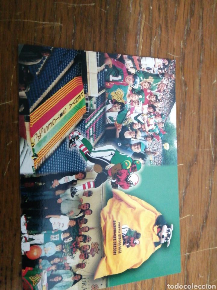 PENYA SITGES ZACK /BARCELONA DRAGONS (Coleccionismo Deportivo - Postales de otros Deportes )