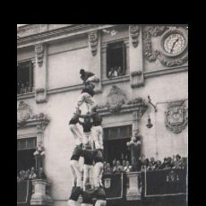 Coleccionismo deportivo: C16-6-1 TARJETA POSTAL Nº F 21 CASTELLERS DE VILAFRANCA DEL PANADES ( CASTELL EL TRES DE VUIT ) FOTO. Lote 199072408