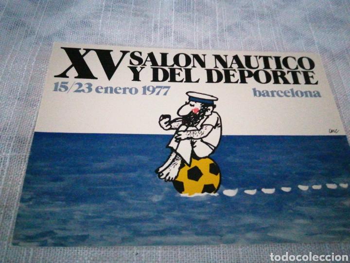XV SALÓN NAUTICO Y DEL DEPORTE 1977 BARCELONA (Coleccionismo Deportivo - Postales de otros Deportes )