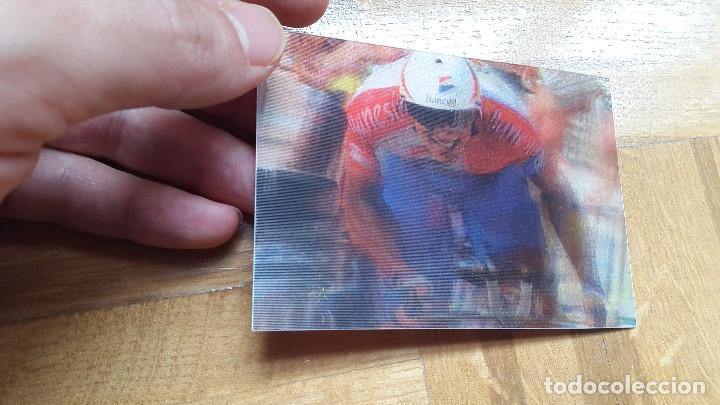 Coleccionismo deportivo: TARJETA HOLOGRAFICA MIGUEL INDURAIN. BANESTO. CICLISMO. VER FOTO ADICIONAL - Foto 2 - 200193973