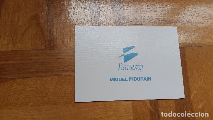 Coleccionismo deportivo: TARJETA HOLOGRAFICA MIGUEL INDURAIN. BANESTO. CICLISMO. VER FOTO ADICIONAL - Foto 3 - 200193973