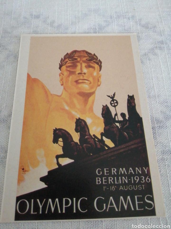 JUEGOS OLÍMPICOS DE BERLÍN 1936 (Coleccionismo Deportivo - Postales de otros Deportes )