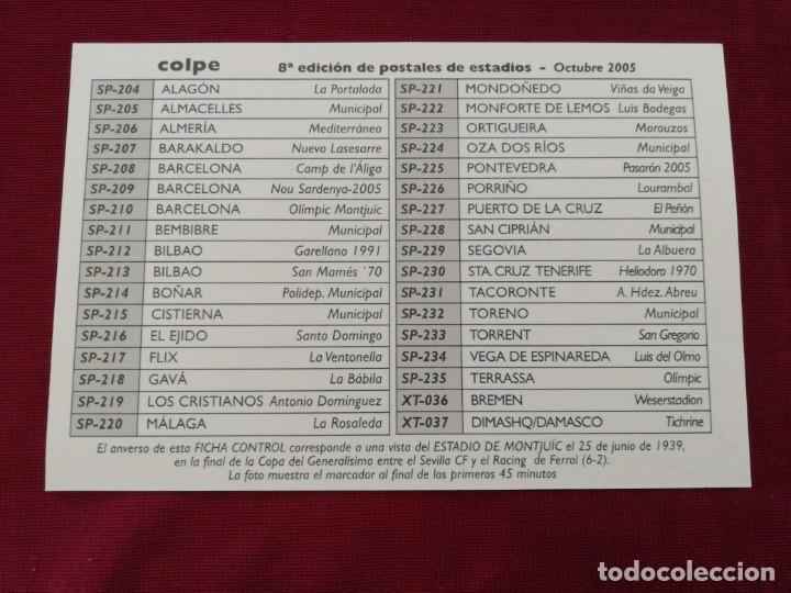 Coleccionismo deportivo: Colección 8ª edición de postales de estadios. Octubre 2005 - Foto 2 - 201210273