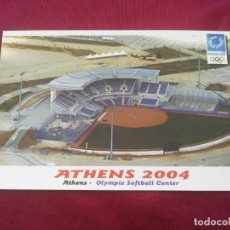 Coleccionismo deportivo: XXVIII OLYMPIC SUMMER GAMES. ATHENS 2004. OLYMPIE SOFTBAL CENTER. Lote 268266454