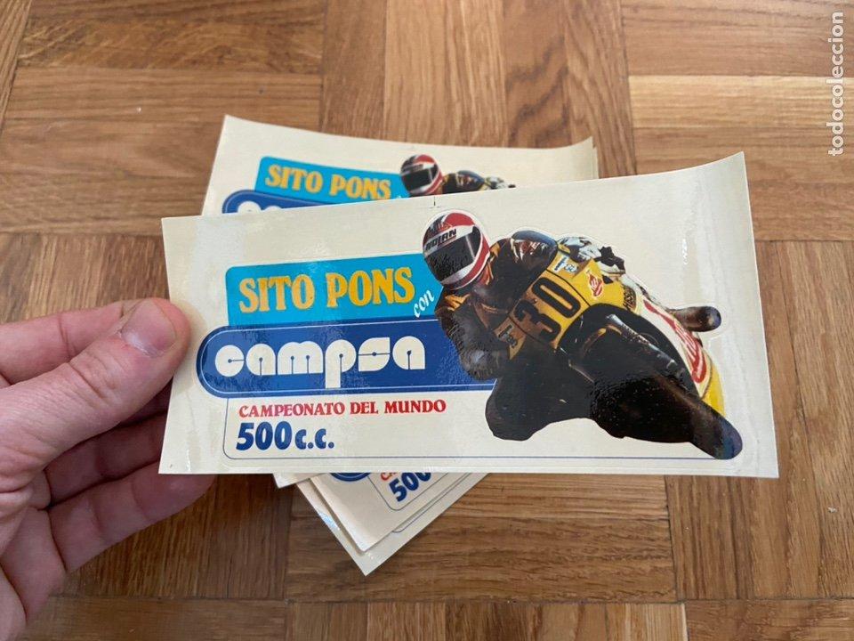 Coleccionismo deportivo: Lote de 10 pegatinas Adhesivos Sito pons con CAMPSA - Foto 2 - 202003803
