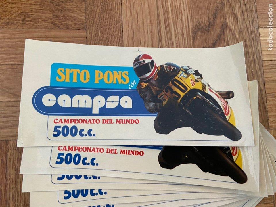 LOTE DE 10 PEGATINAS ADHESIVOS SITO PONS CON CAMPSA (Coleccionismo Deportivo - Postales de otros Deportes )