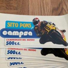 Coleccionismo deportivo: LOTE DE 10 PEGATINAS ADHESIVOS SITO PONS CON CAMPSA. Lote 202003803