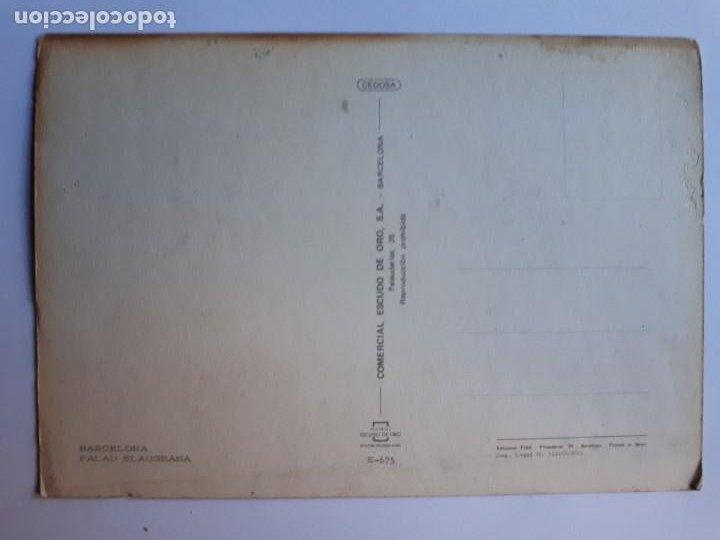 Coleccionismo deportivo: PALAU BLAUGRANA BARCELONA POSTAL - Foto 2 - 204600546