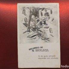 Coleccionismo deportivo: POSTAL RECUERDO DE LA MOLINA. ES DE GUSTO REFINADO DESCENDER POR ARBOLADO. Lote 204646641