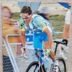 Coleccionismo deportivo: GRAN FORMATO (20 X 15) - CICLISTA OSCAR SEVILLA- CICLISMO. Lote 205293100