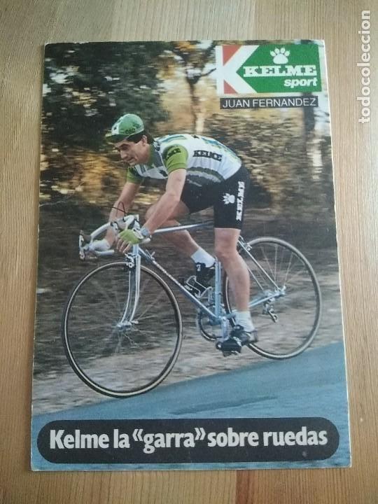 POSTAL CICLISMO KELME JUAN FERNÁNDEZ (Coleccionismo Deportivo - Postales de otros Deportes )