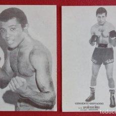 Coleccionismo deportivo: PAREJA DE TARJETAS BOXEADORES, BOXEO. GIRGENTI GIOVANNI Y OTRO. W. Lote 205396225