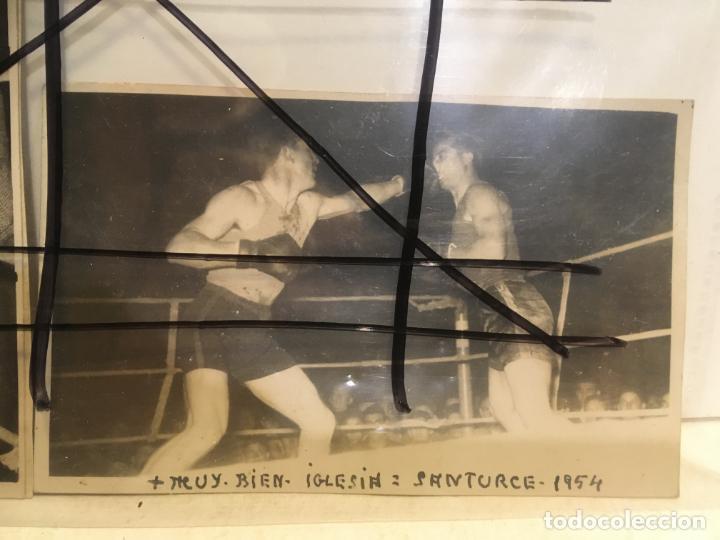 Coleccionismo deportivo: 2 fotos de boxeador con nombre de Luciano Iglesias Lucas,Santurce ,Vizcaya,año 1954.nic - Foto 3 - 205667971