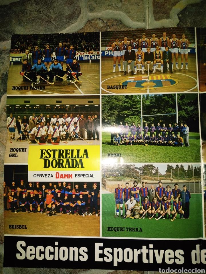 Coleccionismo deportivo: Póster Secciones deportivas del F.C.BARCELONA, 1980 - Foto 2 - 206414050