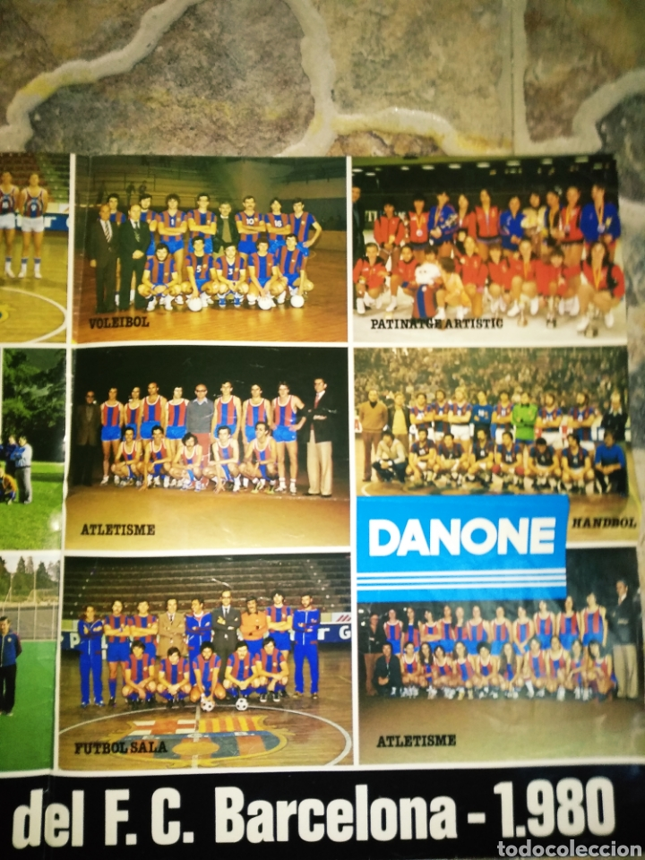 Coleccionismo deportivo: Póster Secciones deportivas del F.C.BARCELONA, 1980 - Foto 3 - 206414050