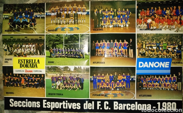 PÓSTER SECCIONES DEPORTIVAS DEL F.C.BARCELONA, 1980 (Coleccionismo Deportivo - Postales de otros Deportes )