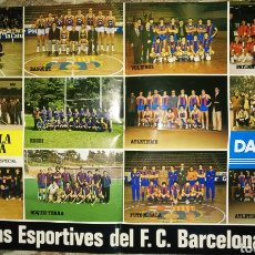 Coleccionismo deportivo: PÓSTER SECCIONES DEPORTIVAS DEL F.C.BARCELONA, 1980. Lote 206414050