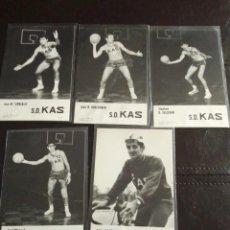 Coleccionismo deportivo: POSTALES SOCIEDAD DEPORTIVA KAS VITORIA BALONCESTO. Lote 168254988
