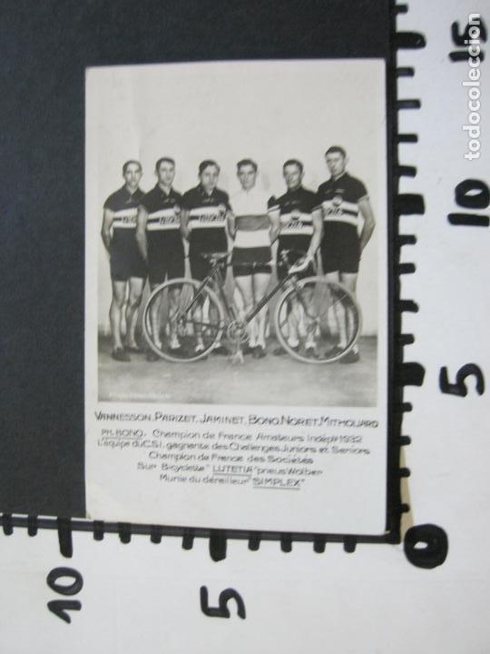 Coleccionismo deportivo: CICLISMO-CAMPEONATO AMATEUR FRANCIA 1932-CICLISTAS-FOTOGRAFICA-POSTAL ANTIGUA-(71.807) - Foto 5 - 209147742