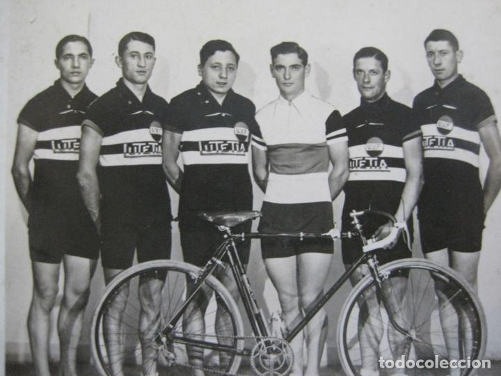CICLISMO-CAMPEONATO AMATEUR FRANCIA 1932-CICLISTAS-FOTOGRAFICA-POSTAL ANTIGUA-(71.807) (Coleccionismo Deportivo - Postales de otros Deportes )