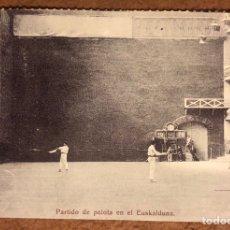 Coleccionismo deportivo: PARTIDO DE PELOTA EN EL EUSKALDUNA. POSTAL SIN CIRCULAR COLECCIÓN BILBAO BIZKAIA KUTXA Y DEIA.. Lote 209975383