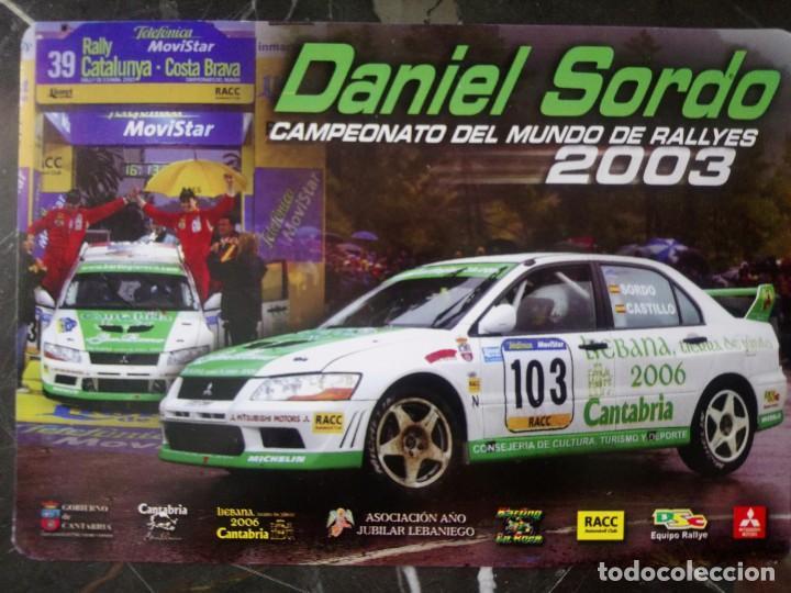 POSTAL RALLIE CAMPEONATO DEL MUNDO DANI SORDO 2003 RALLIES MITSUBISHI AUTOMOVILISMO (Coleccionismo Deportivo - Postales de otros Deportes )