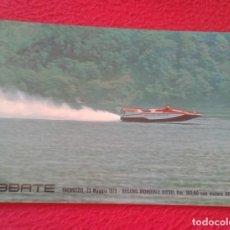 Coleccionismo deportivo: ITALIA TREMEZZO ABBATE 1979 RECORD MONDIALE WORLD DIESEL CON MOTORE MOTOR AIFO FIAT MOTONÁUTICA VER. Lote 214204872