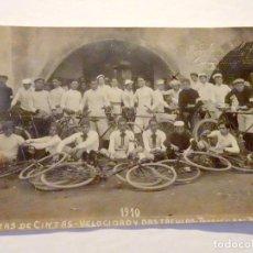 Coleccionismo deportivo: ANTIGUA POSTAL DE CARRERAS DE CINTAS - VELOCIDAD Y OBSTACULOS - TORROELLA DE MONTGRI - GIRONA (1910). Lote 217713811