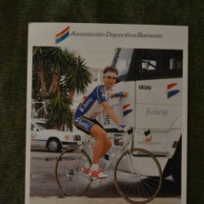 Coleccionismo deportivo: LOTE POSTAL FOTO CICLISMO CICLISTA BANESTO VUELTA ESPAÑA TOUR CROMO 1992 EQUIPO. Lote 218508595