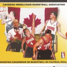 Collectionnisme sportif: AMG-937 TARJETA POSTAL CWBA CANADIAN WHEELCHAIR BASKETBALL ASSOCIATION. Lote 221792731