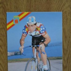 Coleccionismo deportivo: LOTE POSTAL OFICIAL TEKA AÑOS 80 CICLISMO VUELTA ESPAÑA TOUR FRANCIA 1987 FOTO CICLISTA POSTALES. Lote 222427008