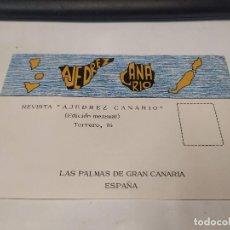 Coleccionismo deportivo: POSTAL REVISTA AJEDREZ CANARIO. Lote 222443380