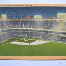 Coleccionismo deportivo: POSTAL. 169. NIGHT BASEBALL AT YANKEE STADIUM, NEW YORK CITY. ACACIA CARD. ESCRITA.. Lote 222752251