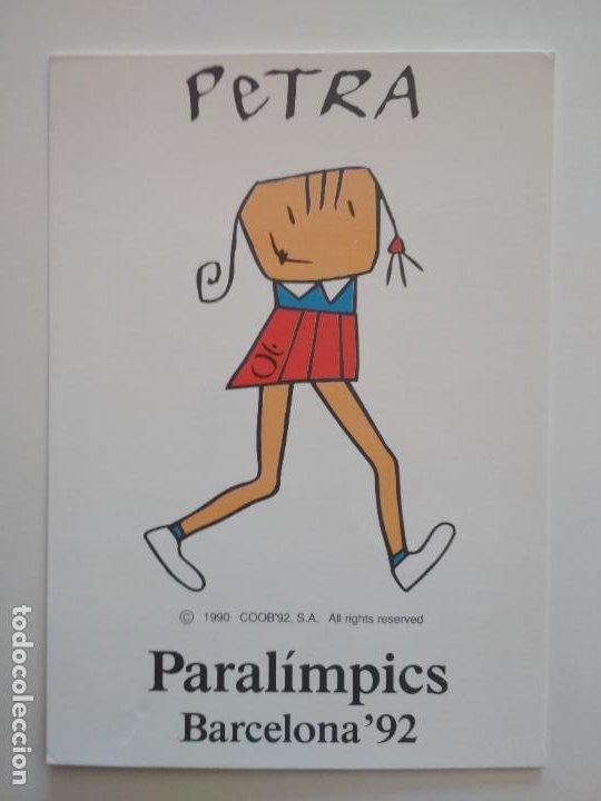 POSTAL MASCOTA JUEGOS PARALÍMPICOS BARCELONA'92 PETRA 1990 (Coleccionismo Deportivo - Postales de otros Deportes )